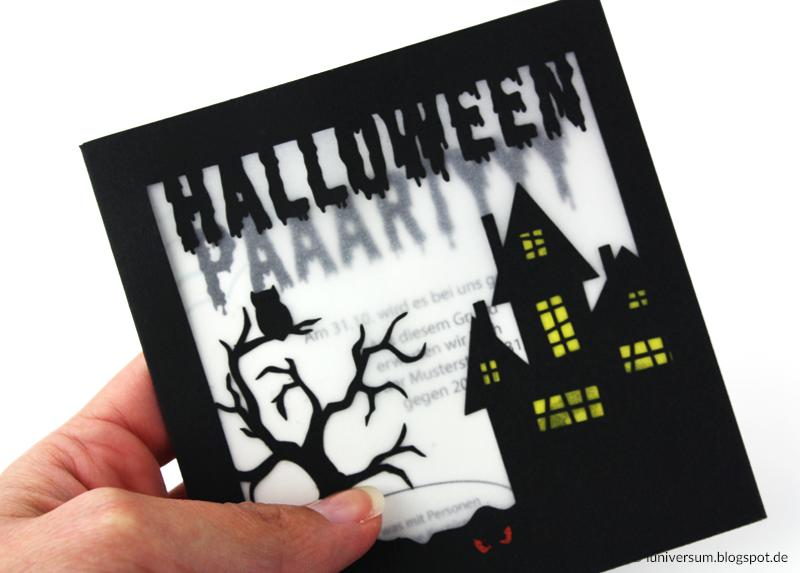 Einladungstext für Halloweenkarte