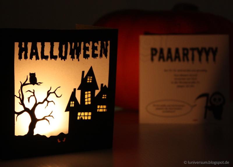 Halloween Einladungskarte mit Effekt