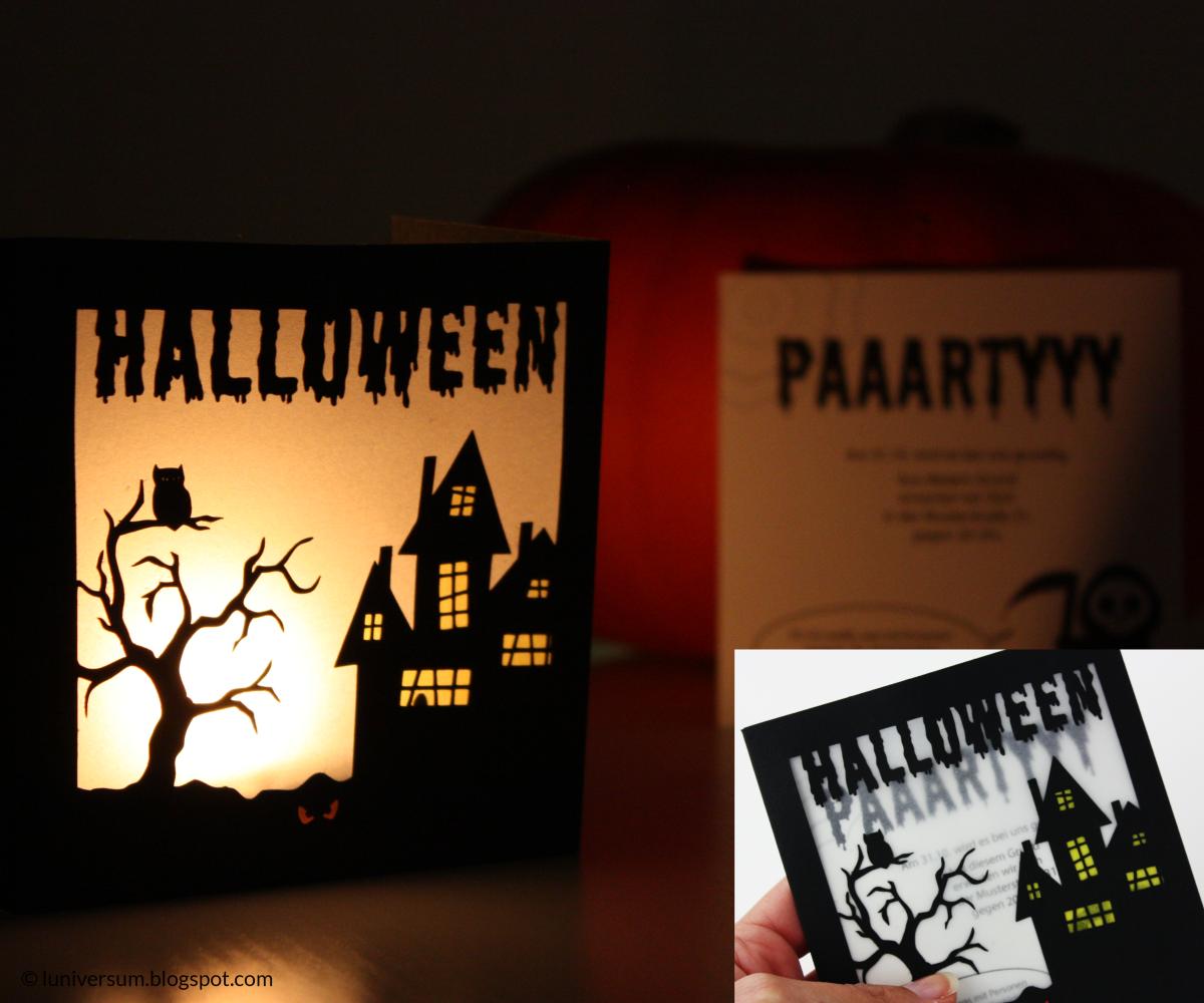 Halloween-Einladung mit Leuchteffekt