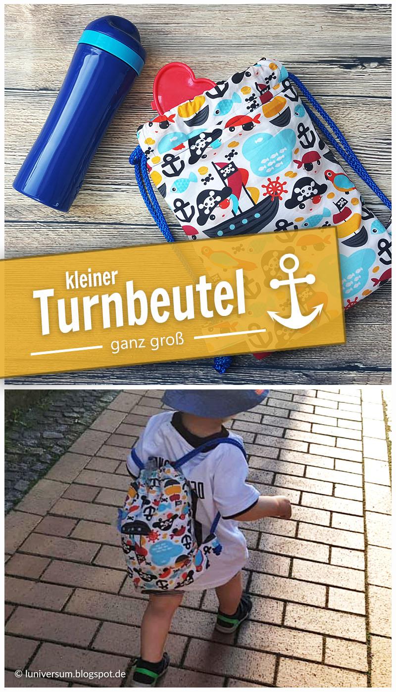 Kleiner Piraten-Turnbeutel für kleine Entdecker