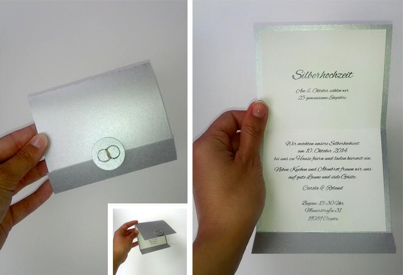 Einladungskarte Silberhochzeit