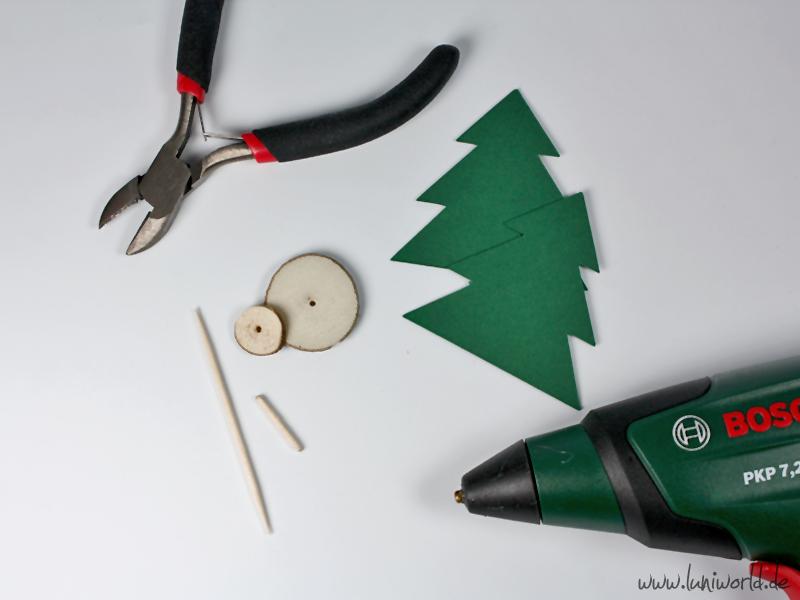 Weihnachts-Tischdeko Baum Material